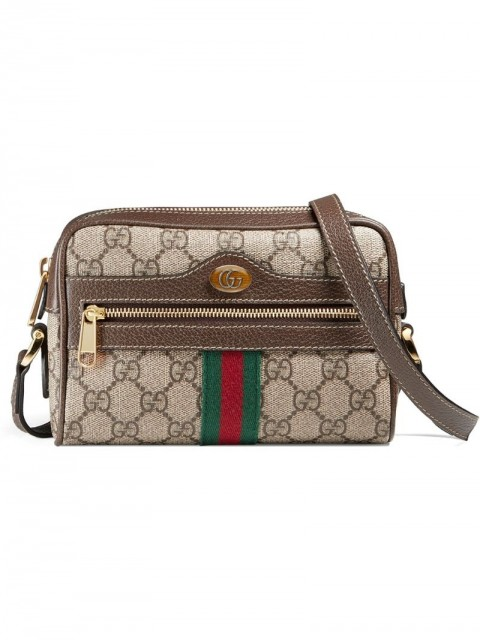 Gucci - Ophidia GG Supreme mini bag - unisex - Microfibre/Polyester/Canvas/Leather - One Size - Brown