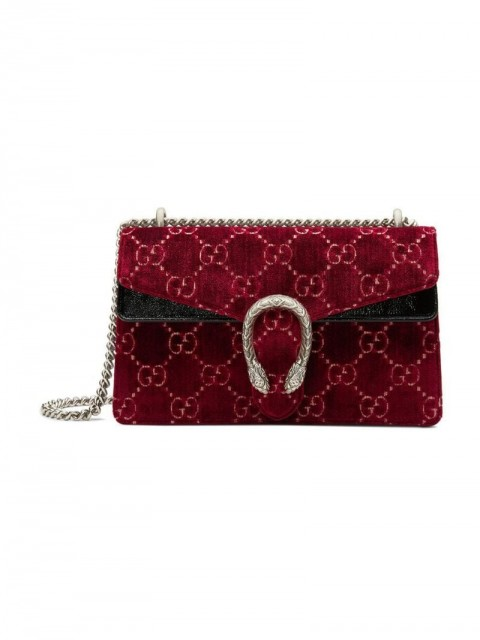 Gucci - red Dionysus GG velvet small shoulder bag - women - Velvet/Leather/Microfibre - One Size - Red