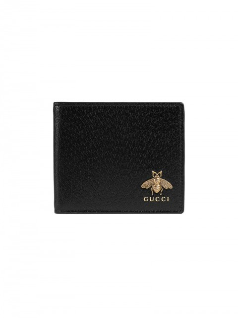Gucci - Animalier leather wallet - men - Leather/metal - One Size - Black