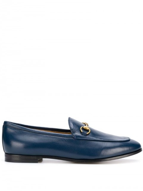 Gucci - Jordaan leather loafers - women - Leather - 35 - Blue