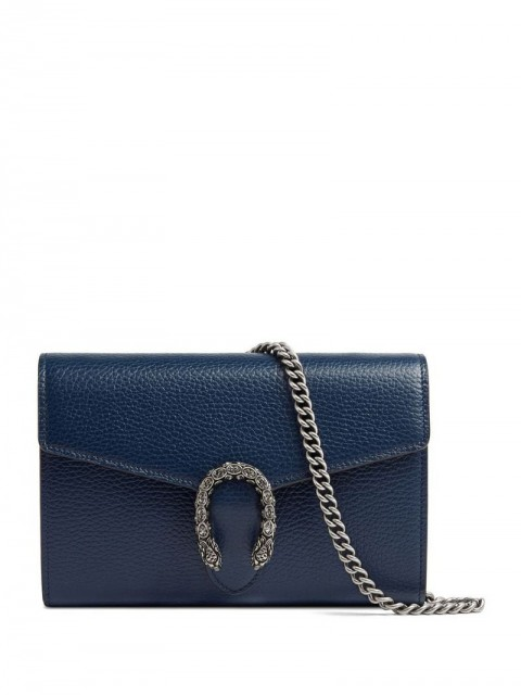 Gucci - Dionysus leather mini chain bag - women - Leather - One Size - Blue
