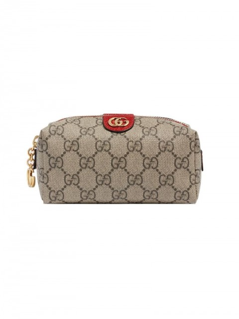 Gucci - Ophidia GG cosmetic case - women - Canvas/Polyester/Leather - One Size - Neutrals