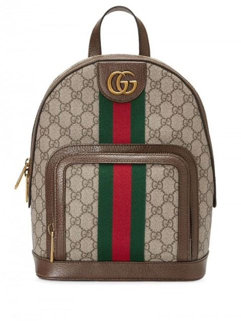 Gucci - Ophidia GG small backpack - men - Canvas/Cotton/Leather/Linen/Flax - One Size - Brown