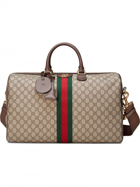 Gucci - Ophidia GG medium carry-on duffle - unisex - Cotton/Leather/Linen/Flax/Canvas - One Size - Brown