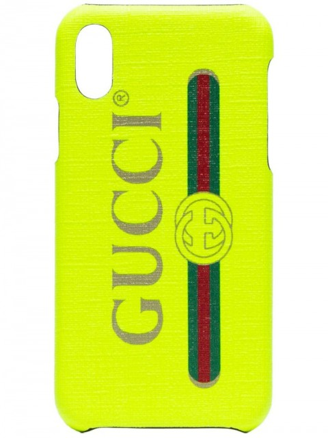 Gucci - Fluorescent yellow iPhone X case - women - PVC - One Size - yellow