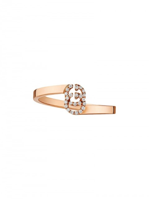 Gucci - GG ring in rose gold with diamonds - women - Diamond/18kt Rose Gold - 49, 50, 51, 52, 54, 55, 53 - PINK