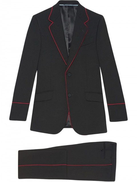 Gucci - Heritage tuxedo with piping - men - Spandex/Elastane/Polyester/Wool - 44, 46 - Black