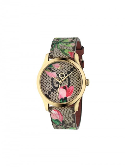 Gucci - G-Timeless watch, 38mm - women - metal/Canvas - One Size - GOLD