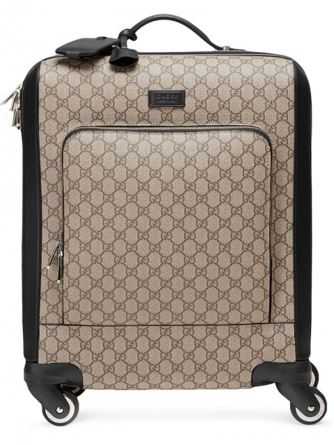 Gucci - GG Supreme carry-on - unisex - Nylon/Plastic/Leather/Canvas - One Size - Neutrals