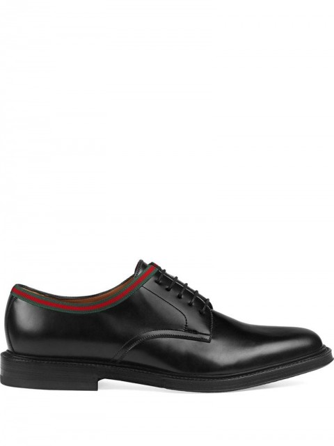Gucci - leather lace-ups - men - Leather - 6,5, 7, 9, 6, 7,5, 8, 8,5, 9,5, 10, 11, 10,5, 5 - Black