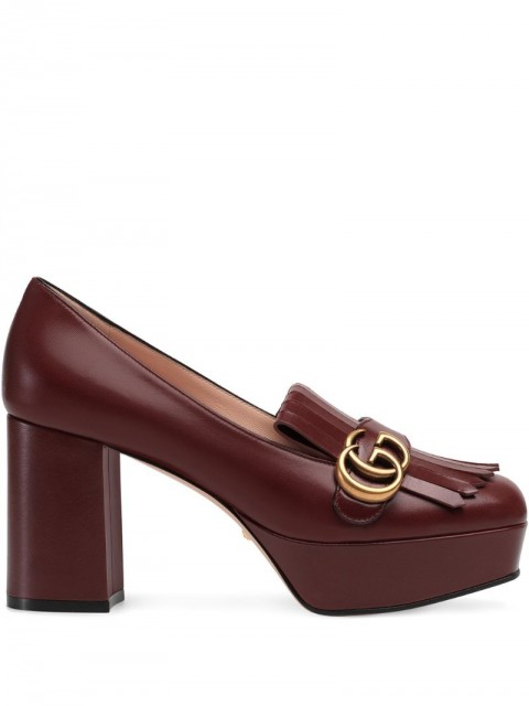 Gucci - decollete in pelle loafers - women - Leather - 37.5, 39.5, 37, 38, 36, 39, 40 - Red