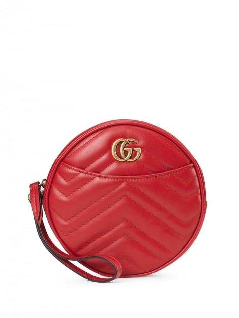 Gucci - GG Marmont zip-around wallet - women - Microfibre/Leather/metal - One Size - Red