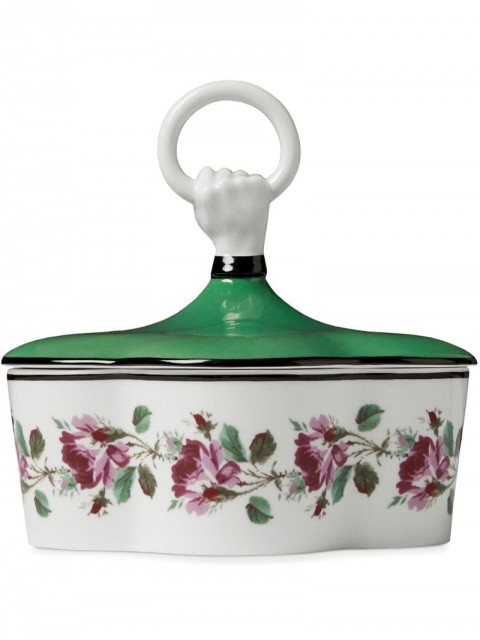 Gucci - Rose print porcelain box with hand and ring - men - Porcelain - One Size - Green