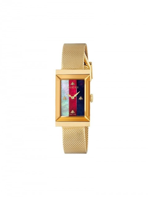Gucci - G-Frame watch - women - Mother of Pearl/stainless steel - One Size - GOLD