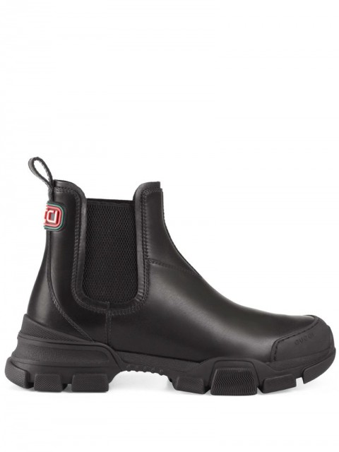 Gucci - trekking style Chelsea ankle boots - men - Leather/Rubber - 6, 7, 8, 9, 7,5, 8,5, 11, 10, 6,5, 9,5, 10,5 - Black