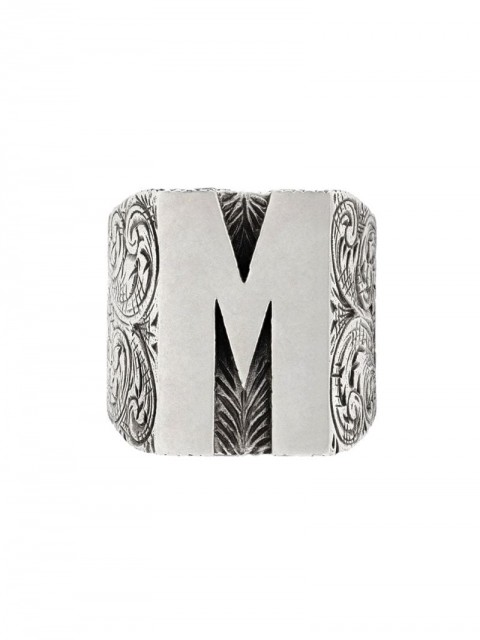 Gucci - M letter ring - unisex - Sterling Silver - 56, 63, 53, 59 - SILVER
