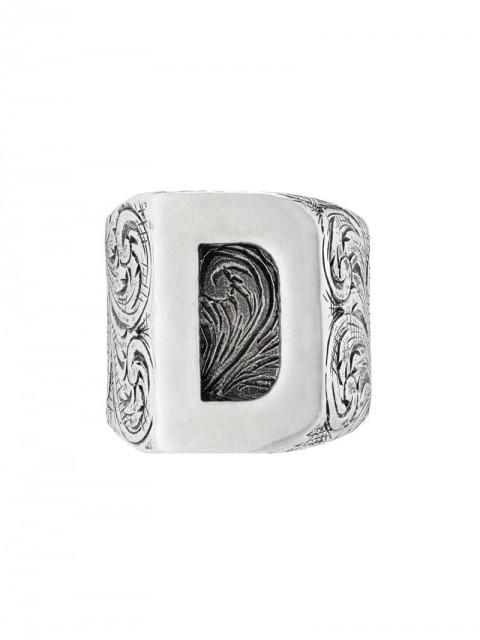 Gucci - D letter ring - unisex - Sterling Silver - 53, 63, 56 - SILVER