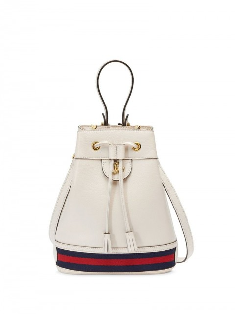 Gucci - small Ophidia bucket bag - women - Leather/Nylon/metal/Microfibre - One Size - White