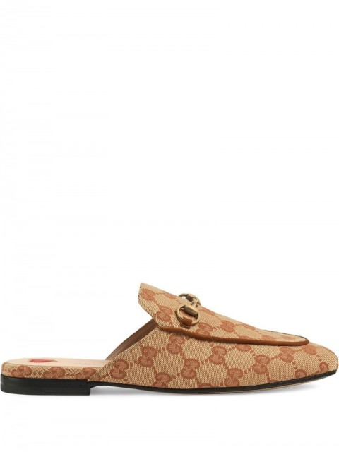 Gucci - Princetown GG slippers - women - Leather/Suede/Canvas - 36, 37, 35, 38, 41, 37.5, 36.5, 39.5 - Neutrals