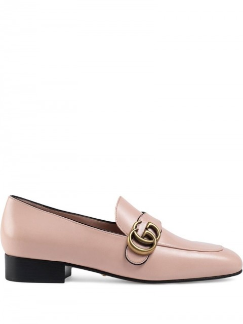 Gucci - Double G loafers - women - Leather - 37, 37.5, 40, 41, 35.5, 36, 38.5, 39.5, 36.5, 38 - PINK