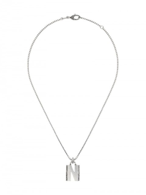 Gucci - N letter necklace - unisex - Sterling Silver - One Size - 0811 Undefined