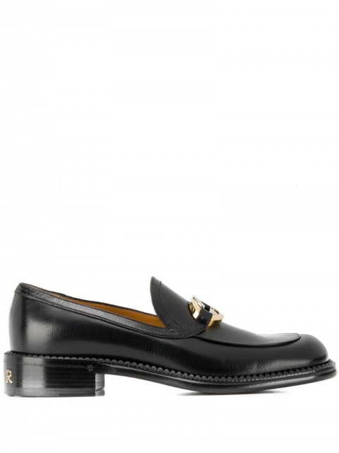 Gucci - Interlocking G leather loafers - men - Leather - 6 - Black