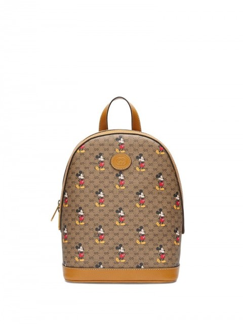 Gucci - x Disney small backpack - women - Cotton/Leather/Canvas - One Size - Neutrals