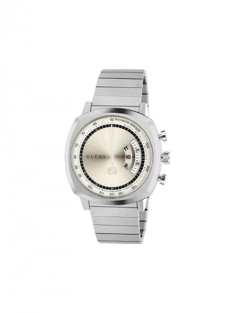 Gucci - Grip 40mm watch - men - stainless steel - One Size - SILVER