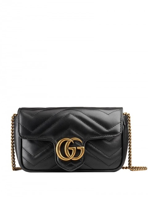 Gucci - GG Marmont matelassé leather mini bag - women - Leather/Gold Plated Metal - One Size - Black