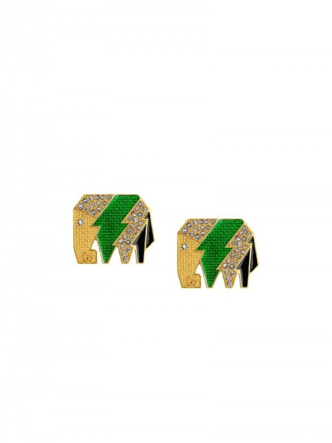 Gucci - Elephant earrings - men - Crystal/metal - One Size - GOLD