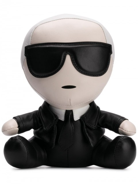 Karl Lagerfeld - K/Ikonik collectible doll - women - Polyester/Leather - One Size - Black