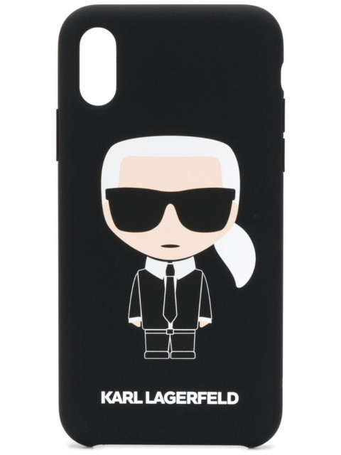 Karl Lagerfeld - Ikonik Karl iPhone X/Xs case - unisex - Acrylic - One Size - Black