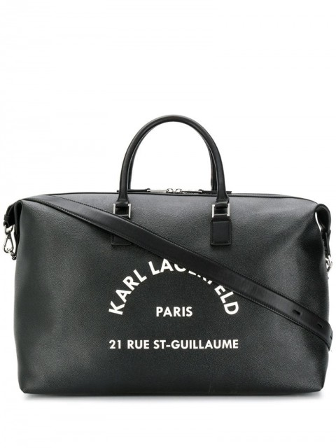 Karl Lagerfeld - Rue St Guillaume weekend bag - unisex - Leather/Cotton/PVC - One Size - Black