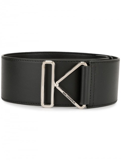 Karl Lagerfeld - K buckle belt - women - Leather - M - Black