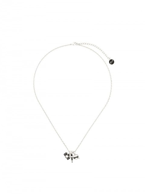 Karl Lagerfeld - Charms necklace - women - Brass - One Size - SILVER