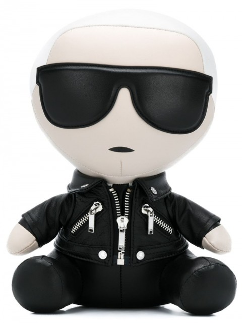 Karl Lagerfeld - decorative Karl doll - women - Leather/Polyester/metal - One Size - Black