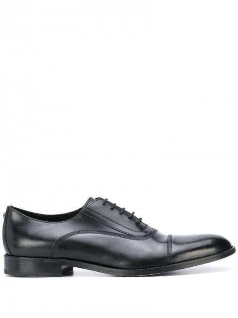 Karl Lagerfeld - pointed toe lace-up Derby shoes - men - Leather - 41, 42, 43, 44, 45, 46 - Black