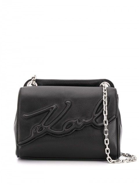 Karl Lagerfeld - K/Signature soft small shoulder bag - women - Leather - One Size - Black