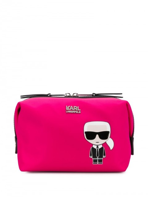 Karl Lagerfeld - K/Ikonik Karl wash bag - women - Polyamide - One Size - PINK