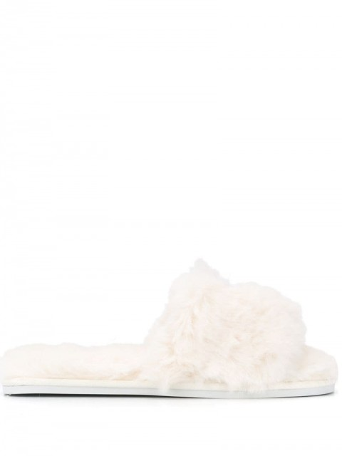 Karl Lagerfeld - Ikonic embroidered slippers - women - Polyester/Rubber - 39 - White