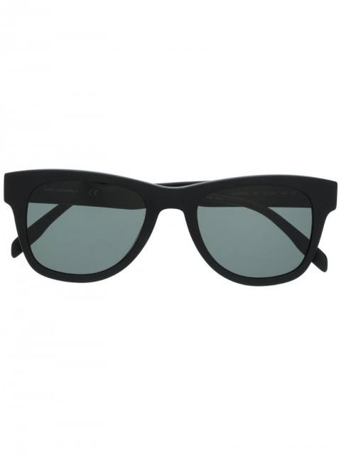Karl Lagerfeld - Karl Ikonik squared frame sunglasses - women - Acetate/WAX - One Size - Black