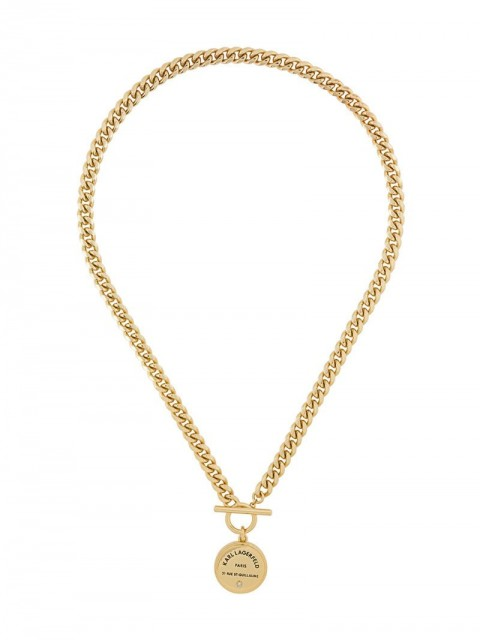 Karl Lagerfeld - Rue St Guillaume medallion chain necklace - women - Brass - One Size - GOLD