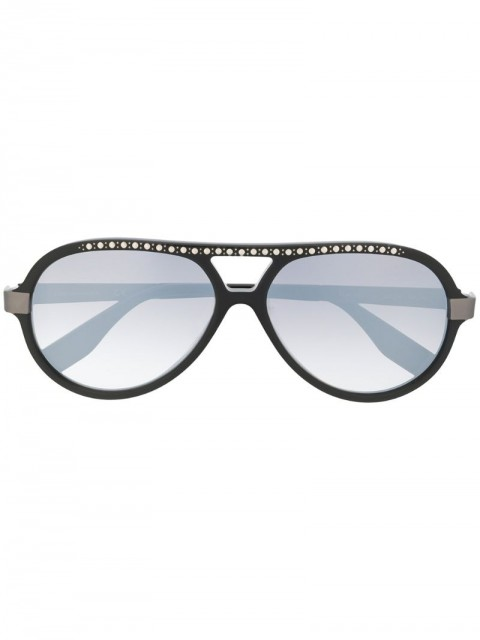 Karl Lagerfeld - Karl Ikon embellished aviator sunglasses - women - Acetate - One Size - Black