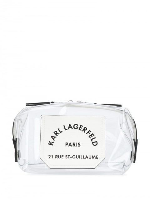 Karl Lagerfeld - K/Journey transparent washbag - women - Thermoplastic Polyurethane (TPU) - One Size - White