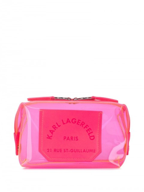 Karl Lagerfeld - K/Journey transparent washbag - women - Polyurethane - One Size - PINK