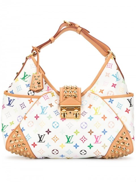 Louis Vuitton - 2010 Chrissie MM shoulder bag - women - Leather/Canvas - One Size - White