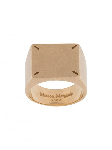 Maison Margiela - 4-stitches ring - men - Silver Plated Brass - 46.7 - GOLD