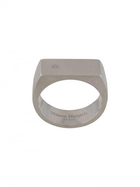 Maison Margiela - angular ring - men - metal - 56 - SILVER