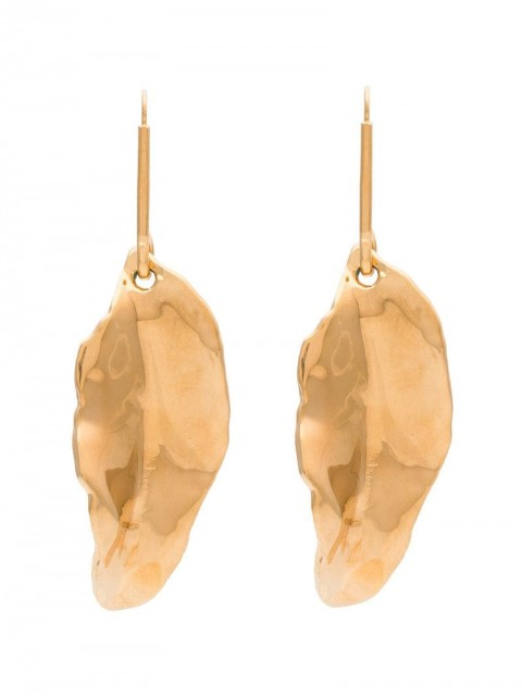 Marni - Gold tone leaf earrings - women - 24kt Gold Plated Metal - One Size - GOLD