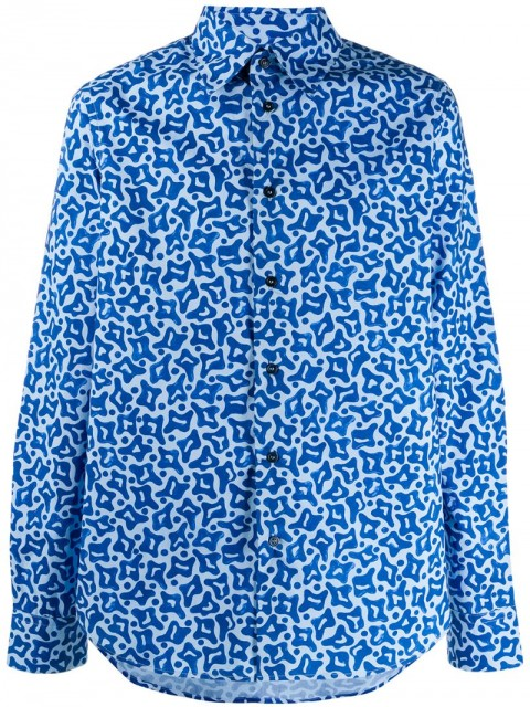 Marni - printed shirt - men - Cotton/Mother of Pearl - 48, 50 - Blue